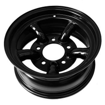 Tyrex HD stalen velg met 5 staven 7X16 offset -25 zwart