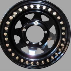 Tyrex beadlock velg 7X16 offset +8 zwart