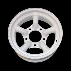 Tyrex HD stalen velg 5 staven 7X16 offset -25 wit