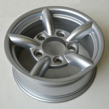 Aluminium velg raptor 4x4 met 5 staven OR style - zilver