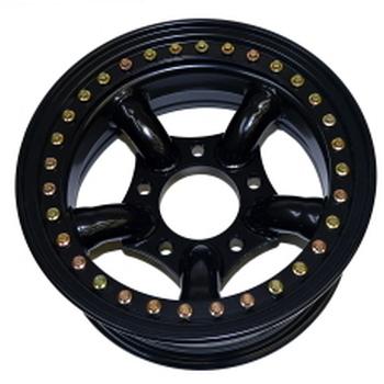 Tyrex beadlock velg met 5 staven 7X16 offset -25 zwart
