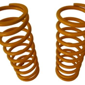 Paar voorveren +7,5 cm geel