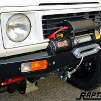 Front squared winch bumper
