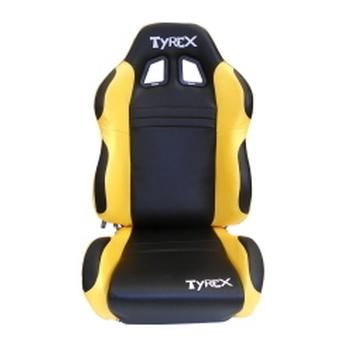 tyrex lederen kuipzetel geel en zwart