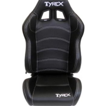 tyrex kuipzetel zwart leder