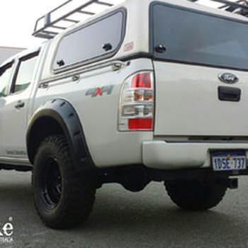 Spatbordverbreders voor Ford Ranger PJ/PK - 70mm breed