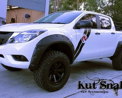 Spatbordverbreders voor Mazda BT50 - 85 mm breed