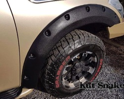 Spatbordverbreders voor Nissan Patrol Y62 - 60 mm breed