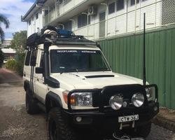 Spatbordverbreders voor Toyota Land Cruiser 78 - 50 mm breed