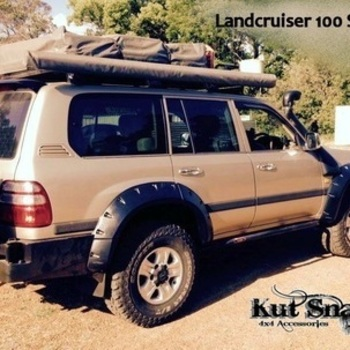 Spatbordverbreders voor Toyota Land Cruiser 100 - 95 mm breed