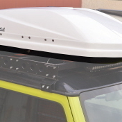 """""""SPACE SHELL"""" ABS ROOF BOX RAPTOR 4X4 400L WHITE GLOSSY"""