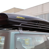 """""""SPACE SHELL"""" ABS ROOF BOX RAPTOR 4X4 460L BLACK GLOSSY"""