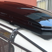 """""""SPACE SHELL"""" ABS ROOF BOX RAPTOR 4X4 680L BLACK GLOSSY"""