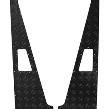 Wing top aluminium 2mm zwart
