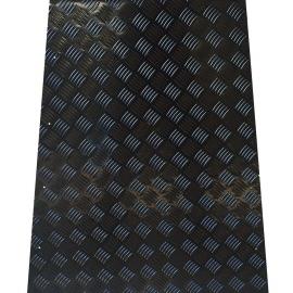 Motorkap beschermingsplaat aluminium 2mm zwart