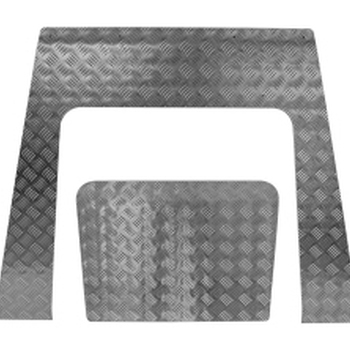 Motorkap beschermingsplaat aluminium 3mm grijs TD4